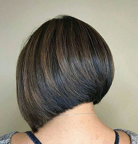 Brunette Layered Short Bob