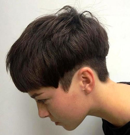 Short Pixie Brown Brunette