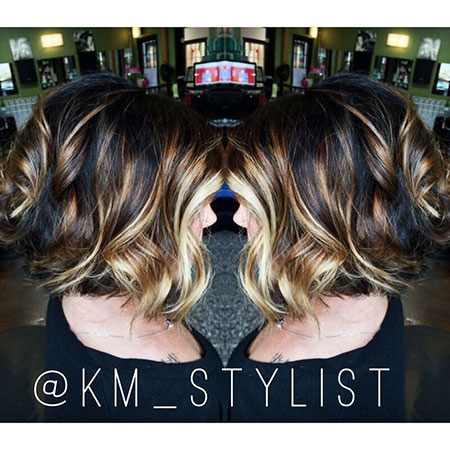 Balayage Hair Brown Bob