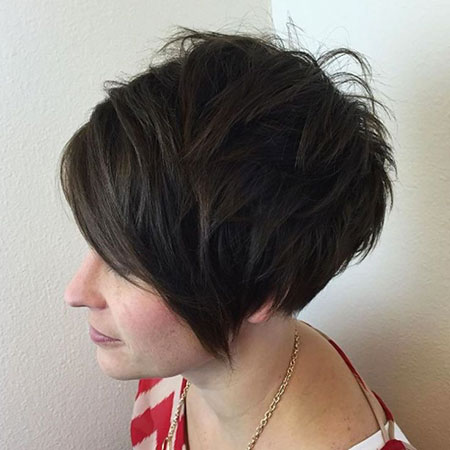 Short Layered Pixie Choppy