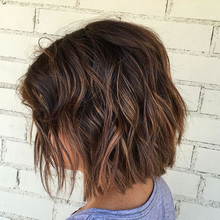 Brown Short Balayage Highlights