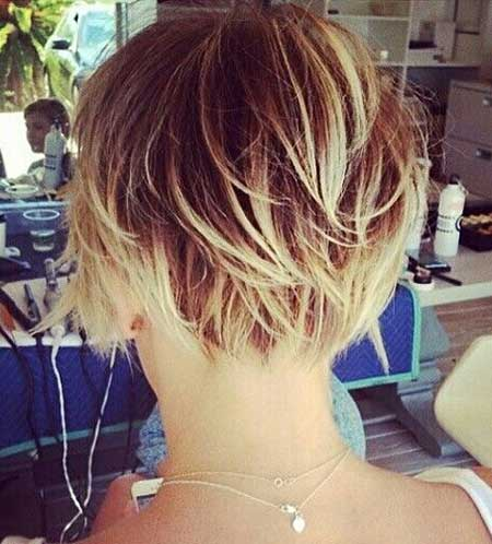 Blonde Colored Highlights Hair Color Idea for Girls