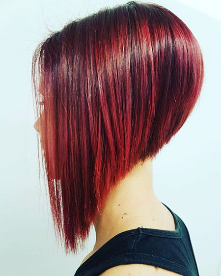 Hair Bob Red Layered