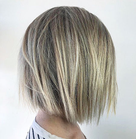 Bob Inverted Blonde Layered