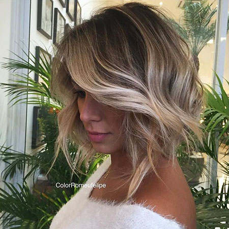 Bob Blonde Highlights, Balayage Hair Bob Blonde