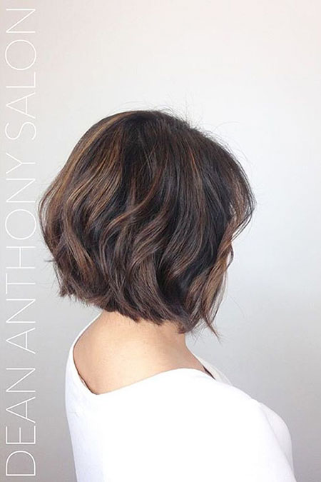 Thick Layered Brown Bob, Short Thick Layered Brown