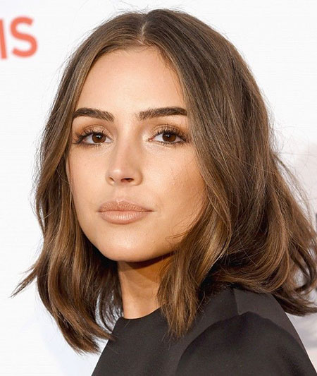 Ashy Blonde Long Bob Style, Hair Cara Brown Makeup