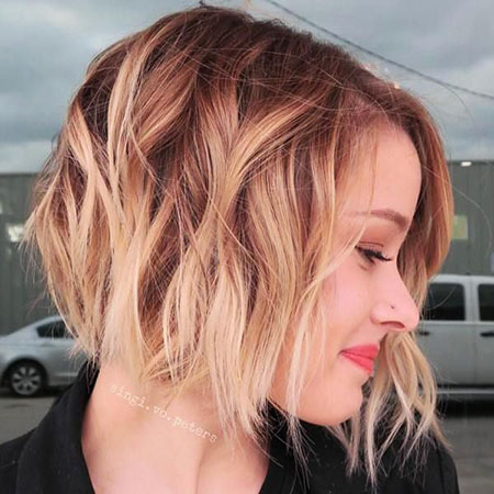 Summer 2018 Hair Trend, Blonde Balayage Bob Hair