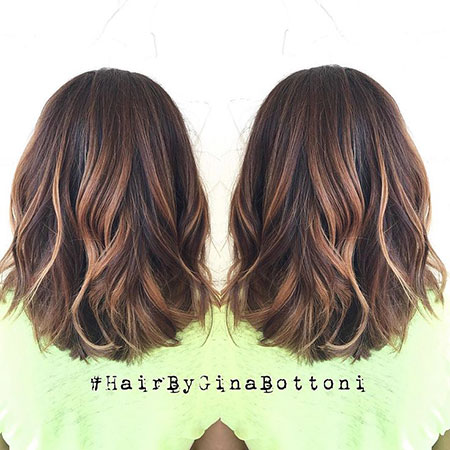 Hair Balayage Lob Fall