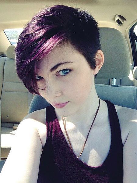 Purple Pixie Short Hair