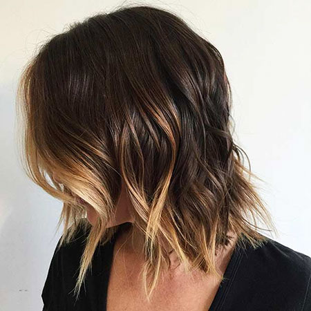 Balayage Choppy Hair Brown