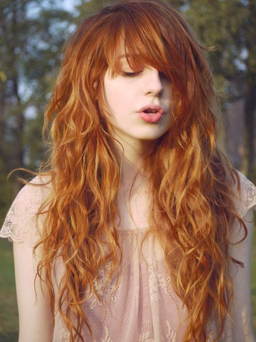 Amazing Long Copper Red Hairstyle (1)