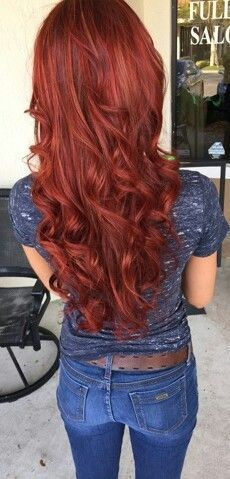 Amazing Long Copper Red Hairstyle (2)
