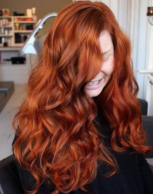 Amazing Long Copper Red Hairstyle (6)