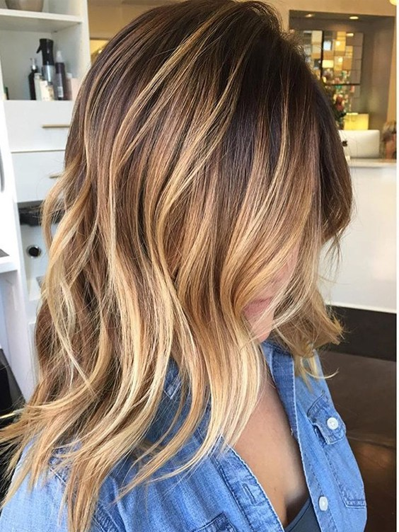Balayage Hairstyle Ideas For 2017 2018 Medium Length Layered Hair