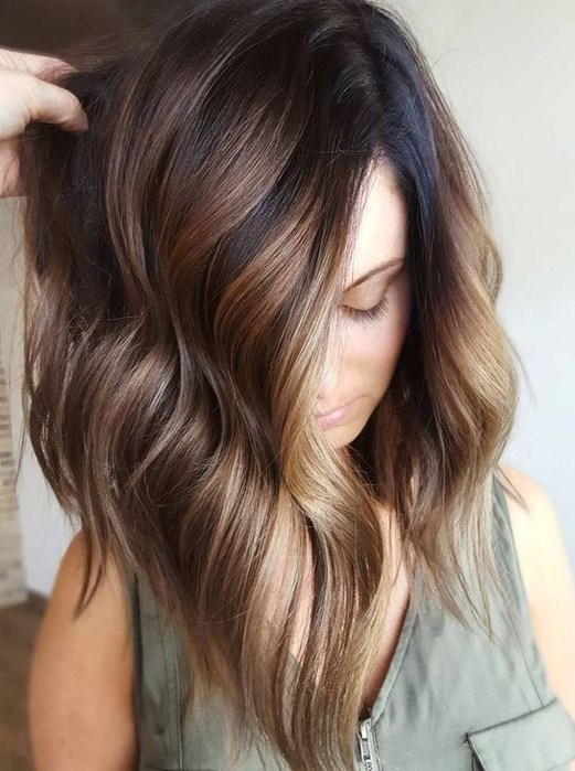 Balayage Hairstyles For Natural Brown Hair Color Ideas For 2017 2018