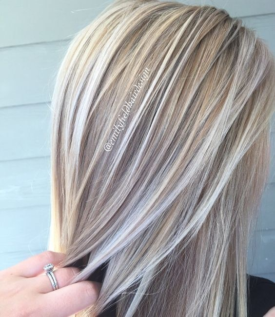Blonde And Platinum White Blonde Balayage Hairstyle Ideas 2017