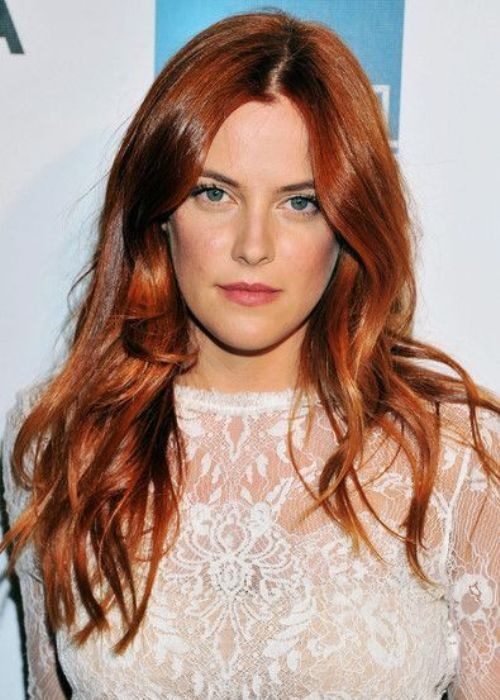 Copper Red Hair With Subtle Waves