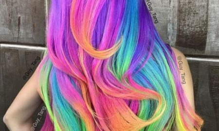 Neon Unicorn Rainbow Hair Color Inspiration