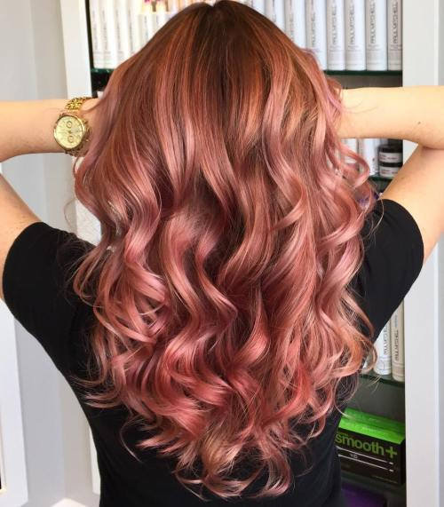 Rose Gold Hair Color Ideas To Die For (6)