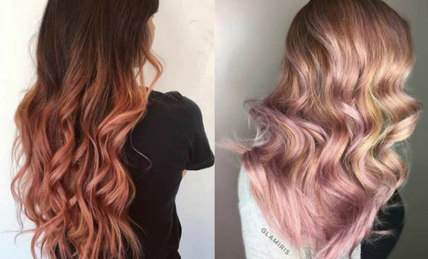 Rose Gold Hair Color Ideas2