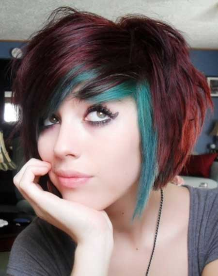 Short Colorful Hair