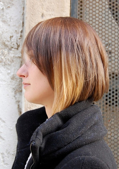Popular Short Hairstyle with Cool Color