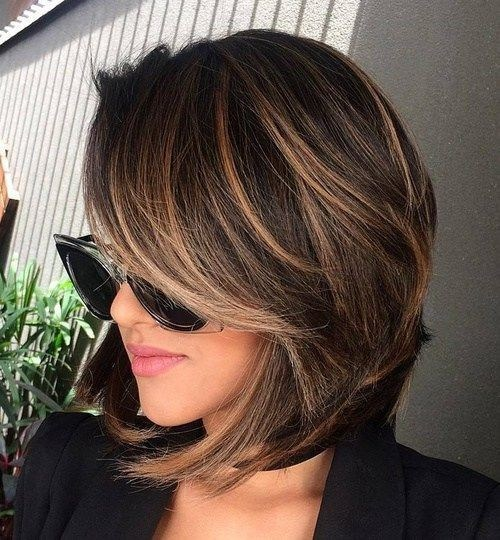 Shoulder Lenght Hairstyles For Women Thick Hiar Balayage Hairstyle