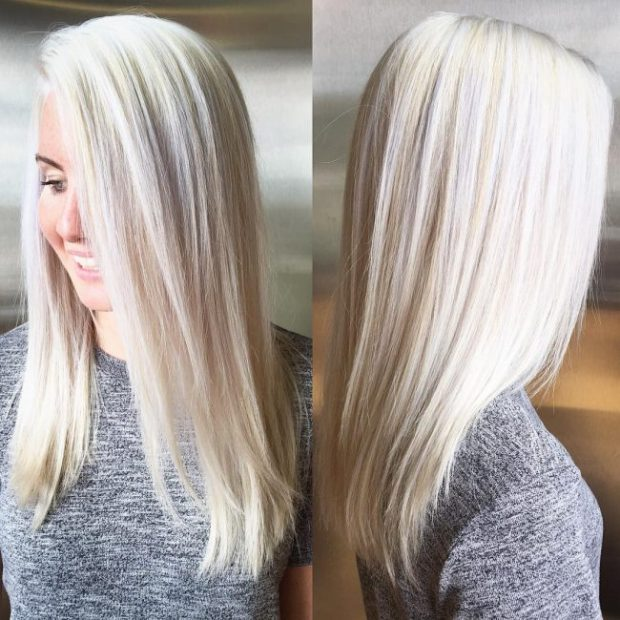 Sleek Iced Blonde Tresses