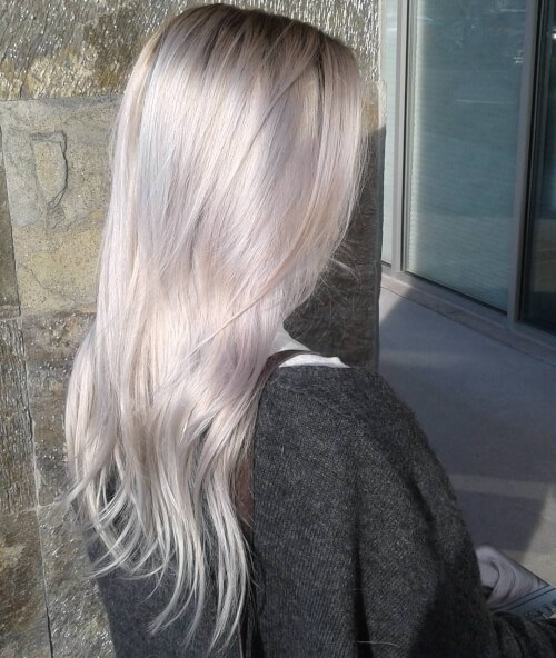 Pearly Platinum Blonde Hair Color