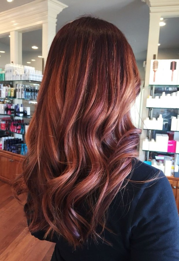 Rose Gold Colour Dark Rose Gold Hair Brown