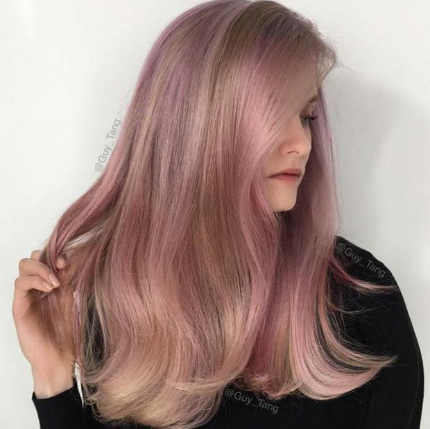 Rose Gold Hair Colors Ideas Hairstyles26