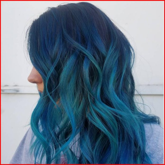 Turquoise Blue Hair Color