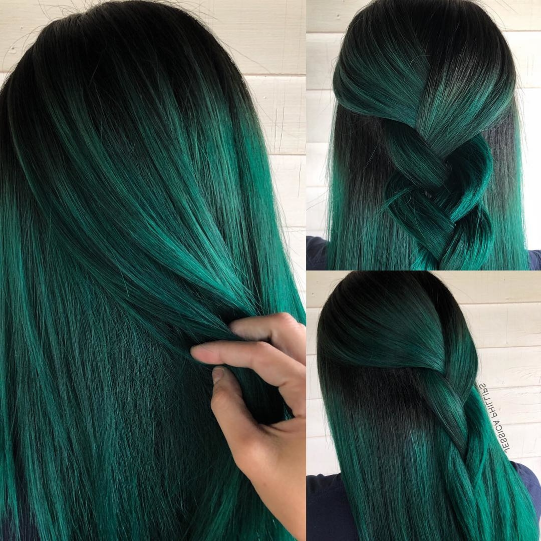 20 Vibrant Dark Hair Color Ideas to Try 2019 - Hair Colour Style