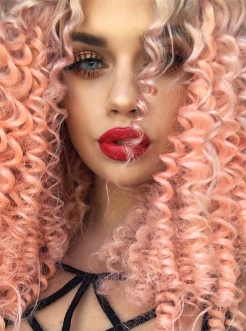 50 Glamorous Peach Hair Color Ideas in 2019.