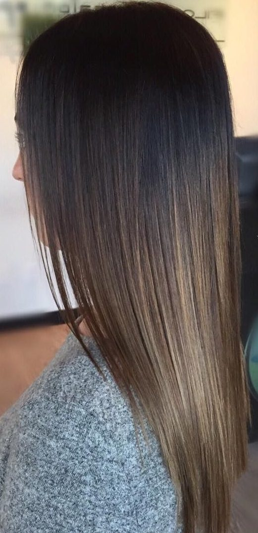 45 Dark Brown to Light Brown Ombre Long Hair Color Ideas ...