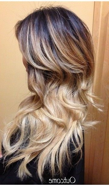 What Colour To Dye Hair: 45 Dark Brown To Light Brown Ombre Long Hair Color Ideas