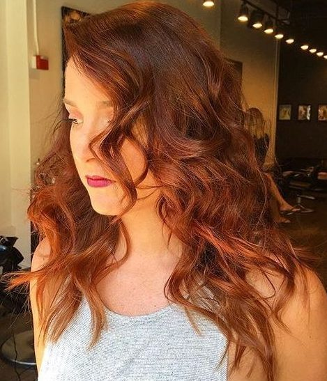 beautiful copper hair color