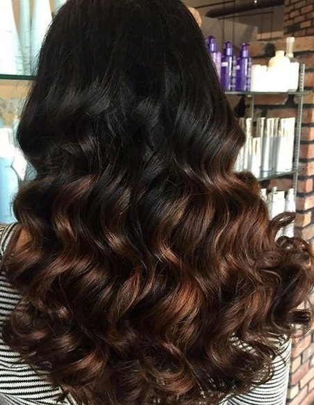 black to chocolate ombre