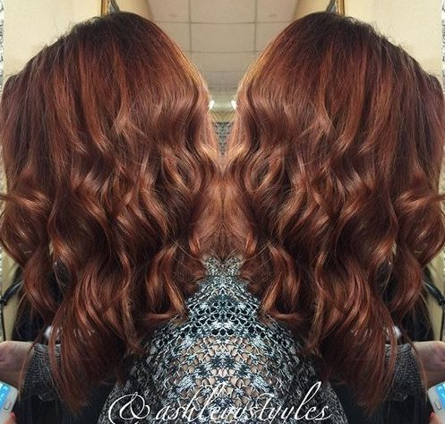 long wavy brown hairstyle