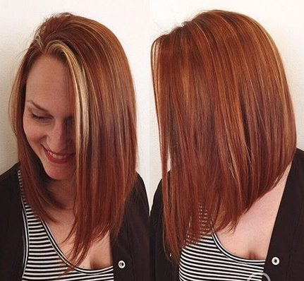 long angled copper bob