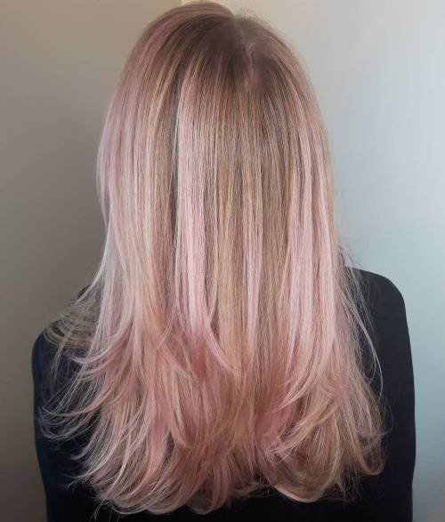 Rose Gold Balayage For Blondes