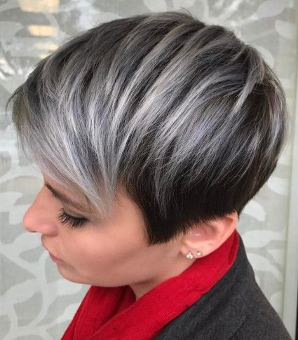 Black And Gray Pixie