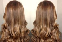 golden brown hair with highlights