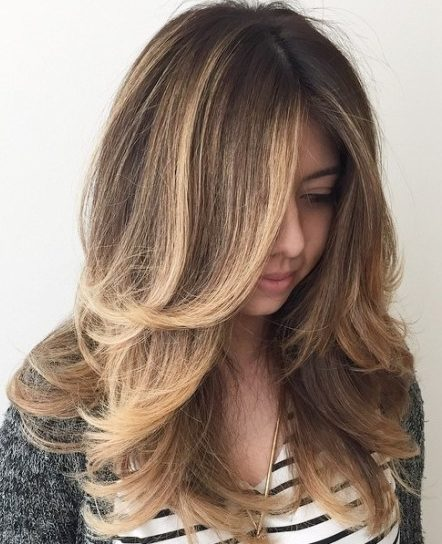 Layered Hair With Balayage