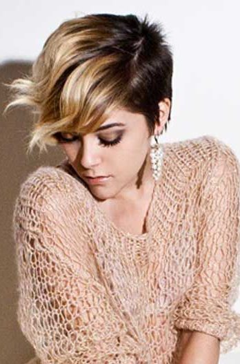 pixie with ombre for bangs